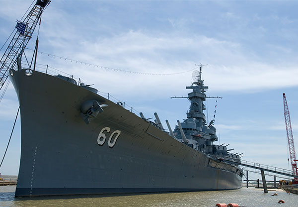 USS Alabama in Mobile